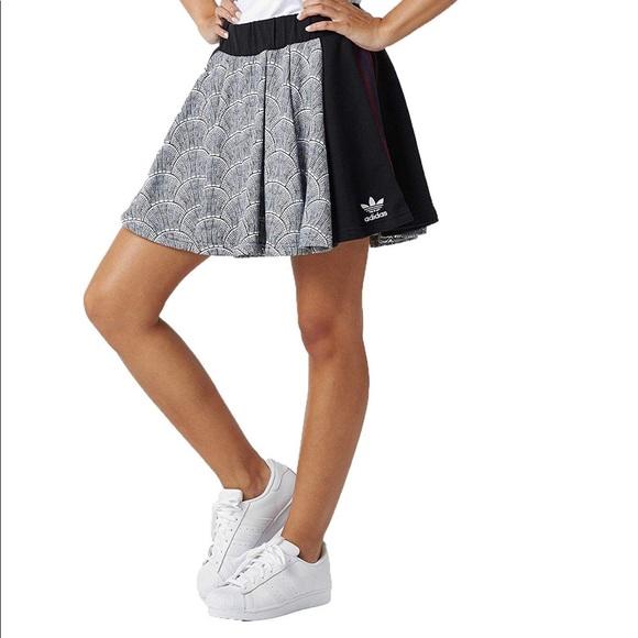 a0d19ad79d adidas Skirts | Originals Aop Shell Tile Pleat Mini Skirt | Poshmark